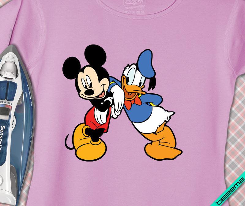 Рисунки на верхнюю одежду Микки и Дональд [Свой размер и материалы в ассортименте]