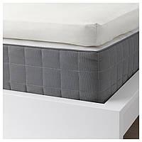 IKEA SOMNTUTA Простыня с резинкой, белой  (904.127.42), фото 1