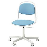IKEA ORFJALL/SPORREN Рабочий стул, белое, Виссле Светло-синее  (491.623.69)