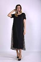 Черное длинное платье из шифона Индивидуальный пошив