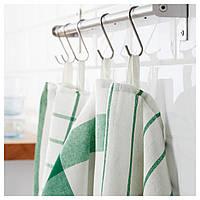 IKEA ELLY Кухонное полотенце, белый, зеленый  (402.777.65)