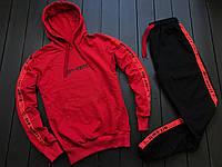 Мужской спортивный костюм черно красный  ВД (Португалия)