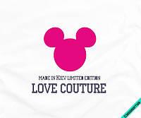 Термоперевод на белье для беременных Микки love couture [Свой размер и материалы в ассортименте]