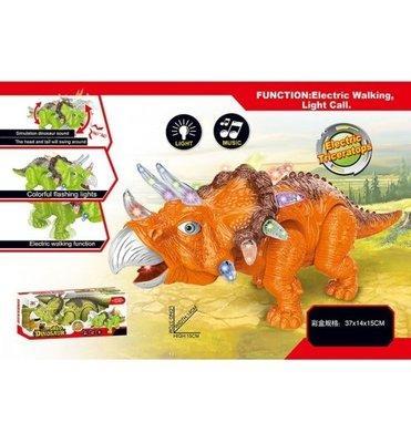Музыкальный игрушечный динозавр на батарейках 814 А