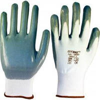 Перчатки синтетика Люкс серо/белые ДКГ 4525