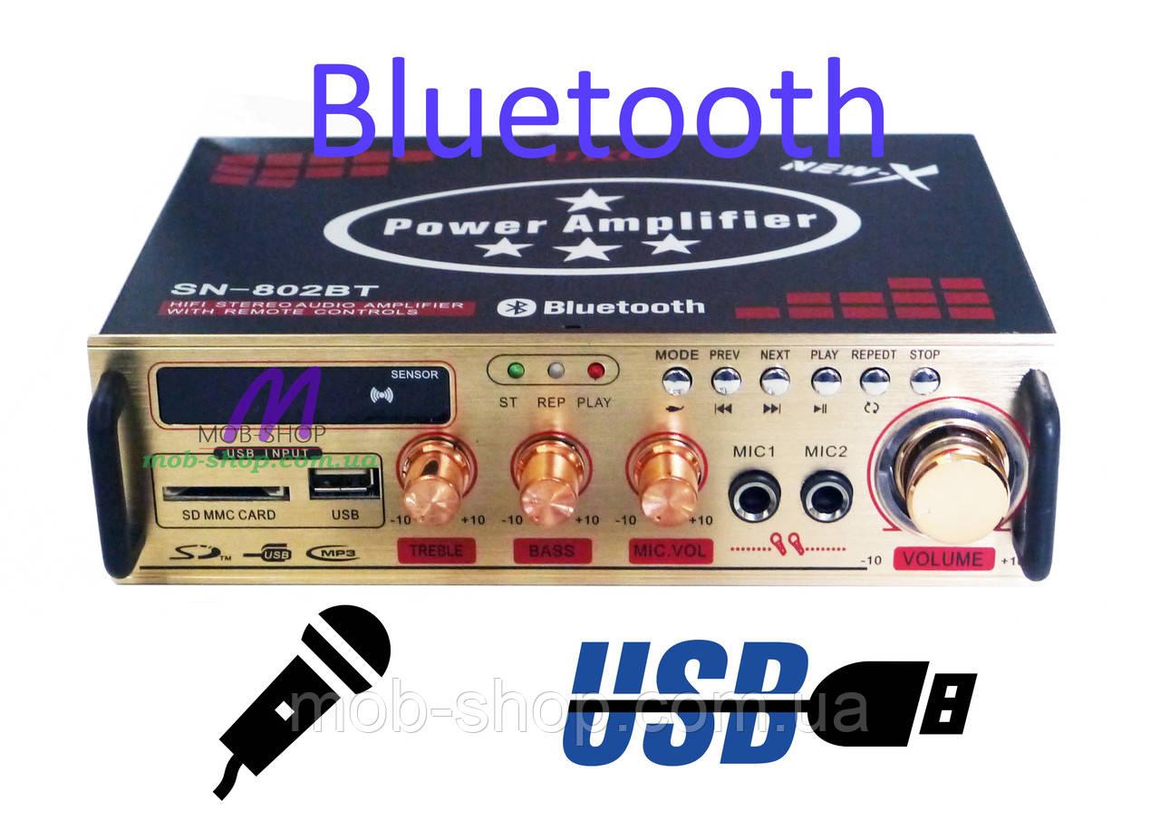 Усилитель звука UKC SN-802BT USB+SD+FM+Karaoke