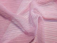 Сетка с блеском полоска, розовый
