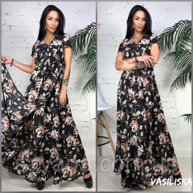 женское длинное летнее платье