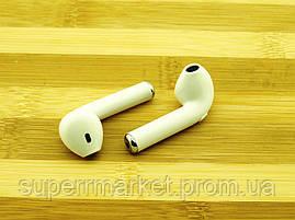I7 TWS AirPods HBQ копия apple, Bluetooth наушники гарнитура, белая, фото 2