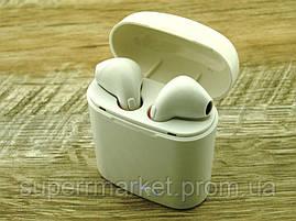 Apple AirPods i7S, IX TWS копия, Bluetooth headset стерео гарнитура с кейсом, белая, фото 2