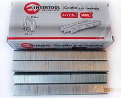 Скобы для пневмостеплера InterTool