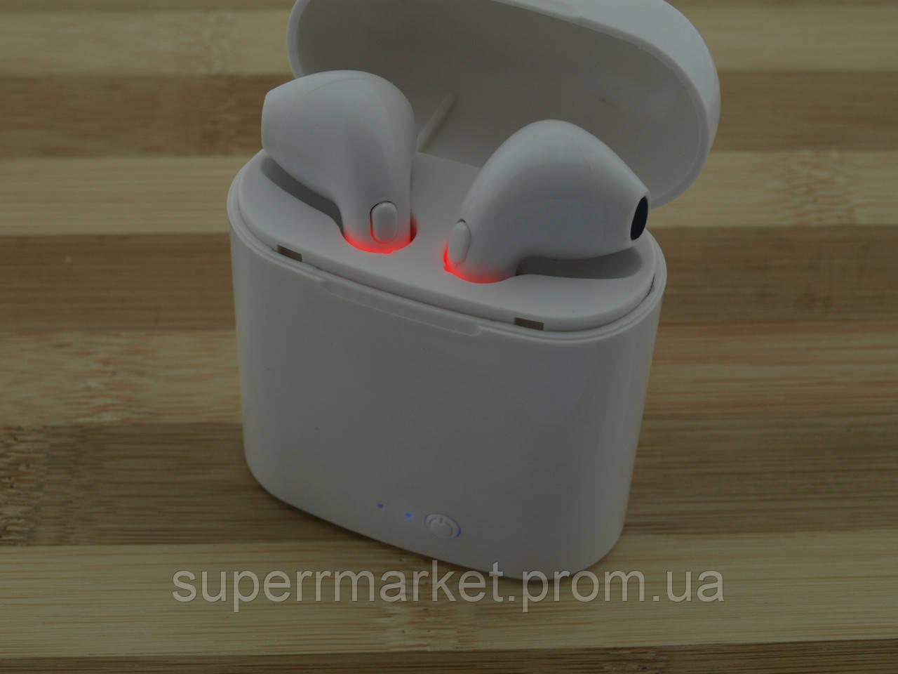 AirPods i7s case MDR TWS гарнитура в стиле apple, Bluetooth headset наушники-гарнитура, белая