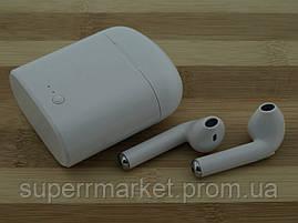 AirPods i7s case MDR TWS гарнитура в стиле apple, Bluetooth headset наушники-гарнитура, белая, фото 3