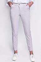 Светло-серые зауженные женские брюки, фото 1