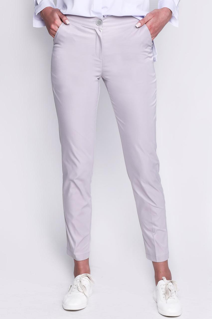 cfd3e1e4fca1 Светло-серые зауженные женские брюки - Bigl.ua