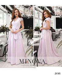 Платье женское длинное супер софт Сирень