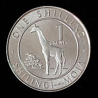 Монета Кении 1 шиллинг 2018 г. Жираф