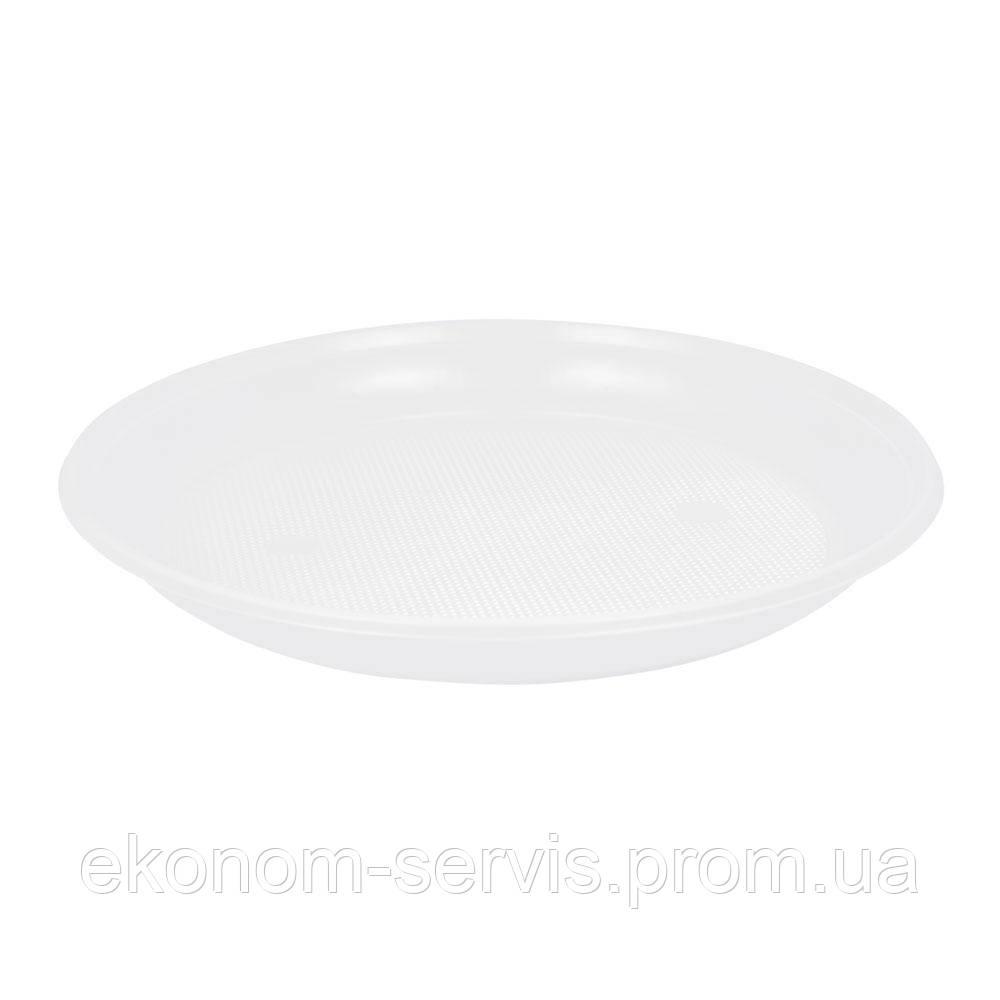 Тарелки одноразовые d-205 мл. 100шт, белые