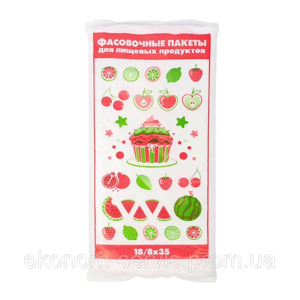Пакети для фасування харчових продуктів Тортик 18х35см. 24 мкм, 800 шт.