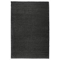 IKEA ADUM Ковер с длинным ворсом, темно-серый  (603.194.77)