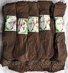 Носок капроновый с тормозами 40den кофейный
