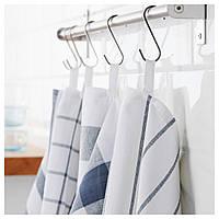 IKEA ELLY Кухонное полотенце, белый, синий  (700.696.37)