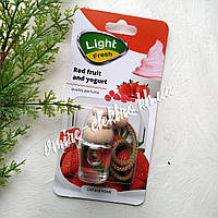 Ароматизатор в машину (клубничный йогурт) Light Fresh Red fruit and yogurt