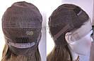 💎 Парик из натуральных волос с имитацией кожи головы, русый на сетке с шелком 💎, фото 10
