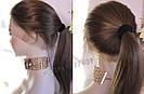 💎 Парик из натуральных волос с имитацией кожи головы, русый на сетке с шелком 💎, фото 3