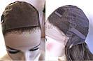 💎 Парик из натуральных волос с имитацией кожи головы, русый на сетке с шелком 💎, фото 9