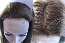 💎 Парик из натуральных волос с имитацией кожи головы, русый на сетке с шелком 💎, фото 5