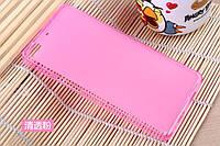 Чехол накладка для Fly IQ453 Quad Luminor розовый