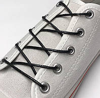 Шнурки с пропиткой круглые чёрный 70 см, фото 1