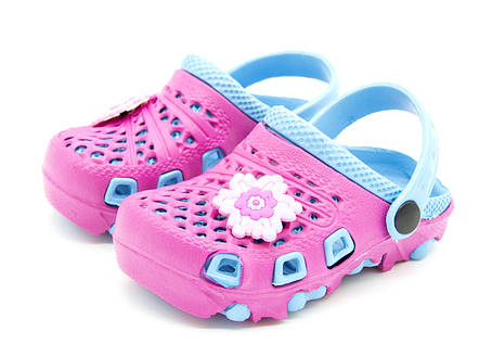 Сабо для девочки Размеры: 18,19,20 Цвет -Розово-синий, фото 2