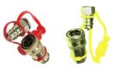 Переходник пневматического шланга для грузовых автомобилей  комплект (желтый, красный)