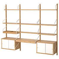 IKEA SVALNAS Настенный стол, бамбук, белый  (091.844.53)