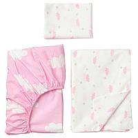 IKEA HIMMELSK Комплект детского постельного белья, 3 шт.,, розовый  (103.195.83)