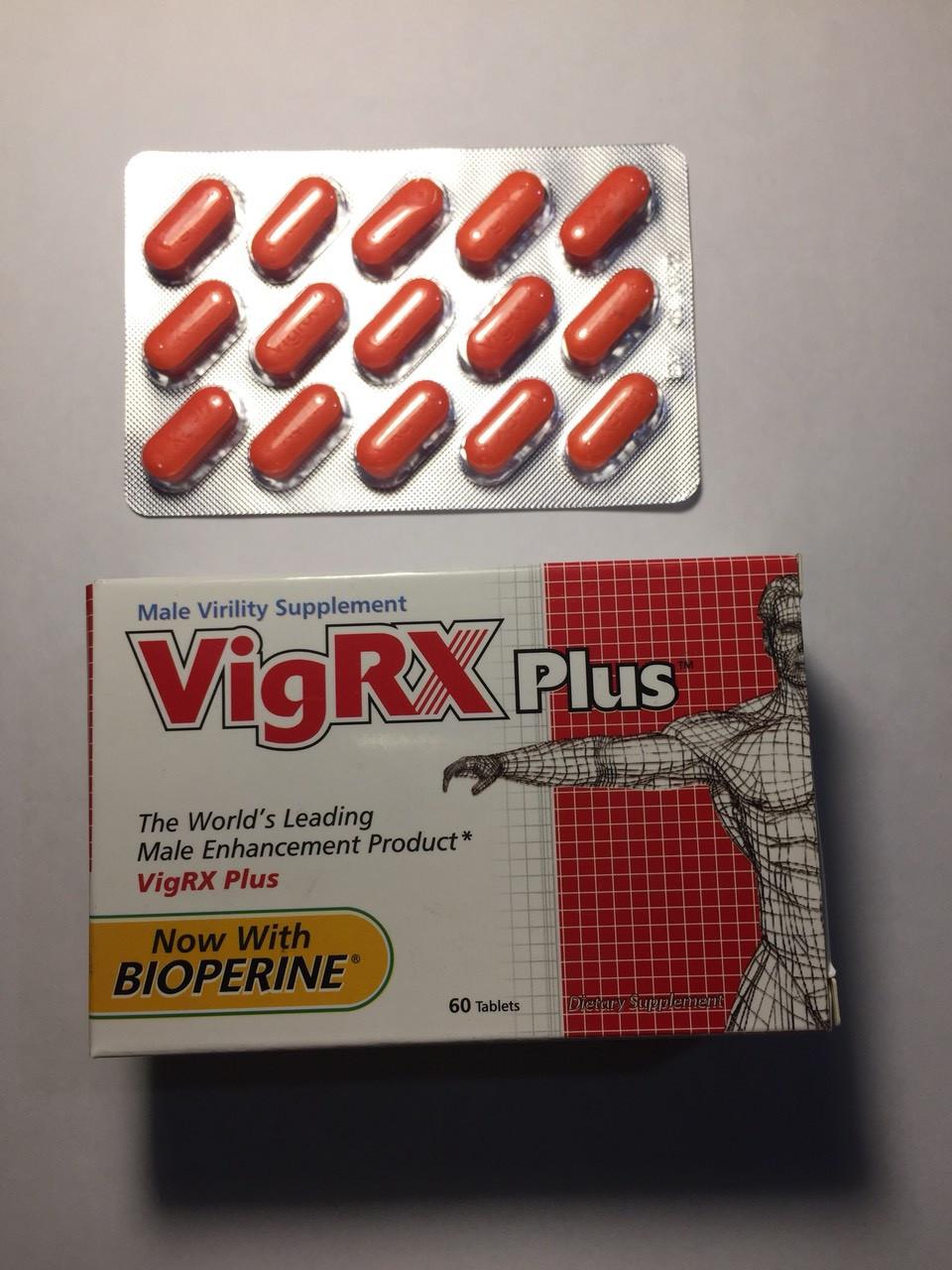 Препарат для увеличения потенции и члена VigRX Вигрикс Plus 100% ОРИГИНАЛ!!!  Сертификат!  (таблетки 60 штук)