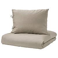 IKEA PUDERVIVA Комплект постельного белья, натуральный  (703.375.98), фото 1