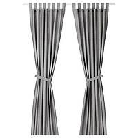 IKEA LENDA Гардины, серый  (003.191.78)