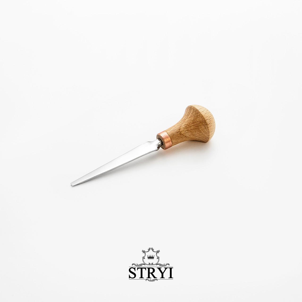 Штихель плоский 3мм для різьби по дереву від виробника STRYI