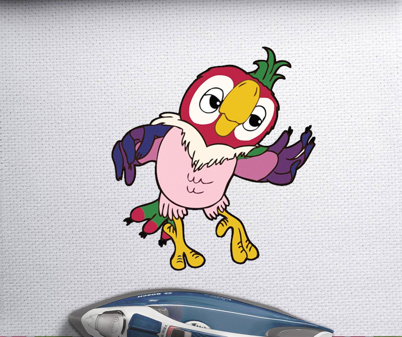 Термопереводки на шорти Папуга Кеша [Свій розмір і матеріали в асортименті]