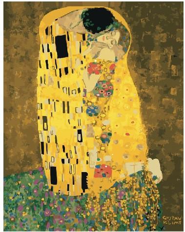 Картина по номерам Поцелуй Густава Климта 40 х 50 см (BK-GX21783)