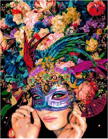 Картина по номерам Цветочный маскарад 40 х 50 см (BK-GX22922)
