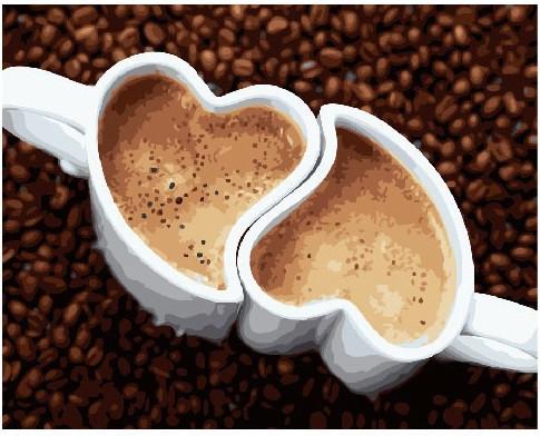 Картина по номерам Кофе для двоих 40 х 50 см (BK-GX24987)