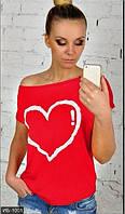 Женская молодежная футболка с круглым вырезом вискоза , фото 1