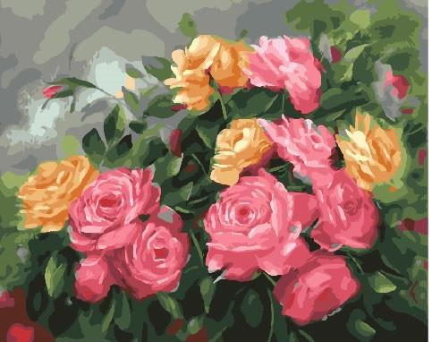 Картина по номерам Розовый куст 40 х 50 см (BK-GX25590)