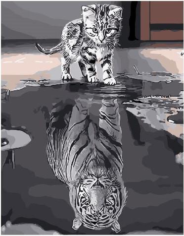 Картина по номерам Душа тигра 40 х 50 см (BK-GX25713)