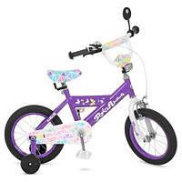 Велосипед двухколесный для девочки Profi Flower на 14 дюймов