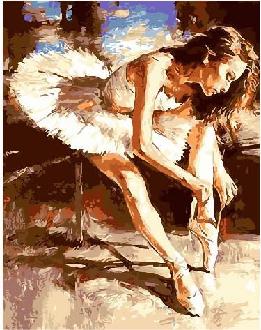 Картина по номерам Молодая балерина 40 х 50 см (BK-GX25866)